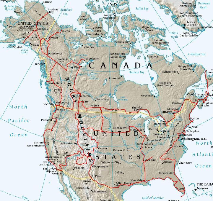 Carte Canada Est Detaillee.Usa Presentation